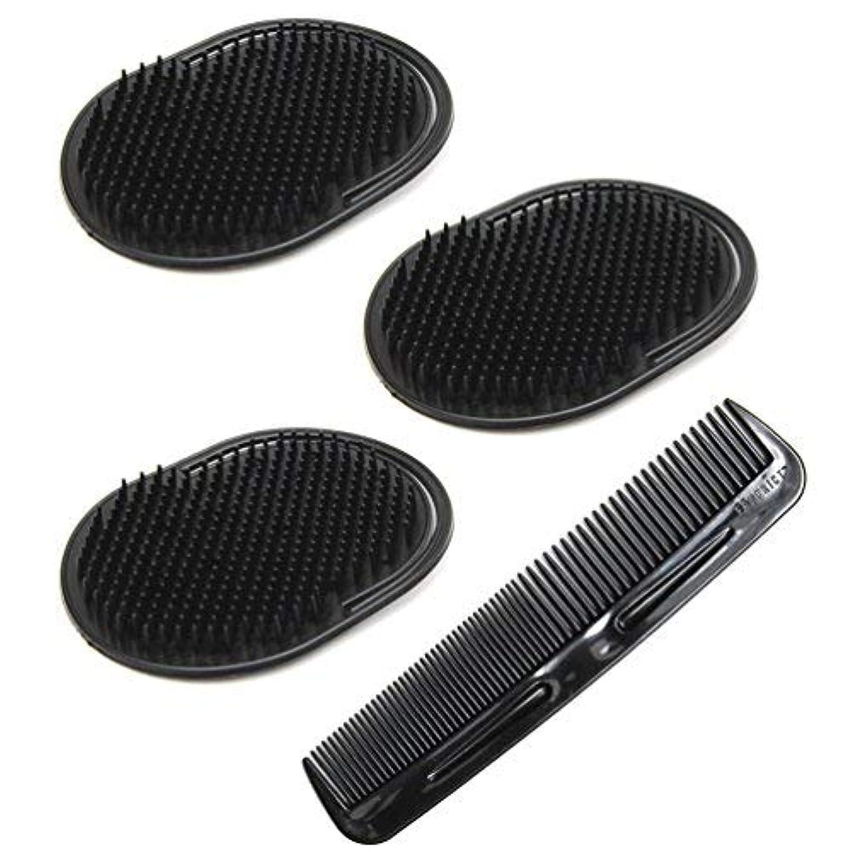 回答石炭スキームLuxxii (4 Pack) Hair Scalp Massage Shampoo Palm Brush Massager with 5