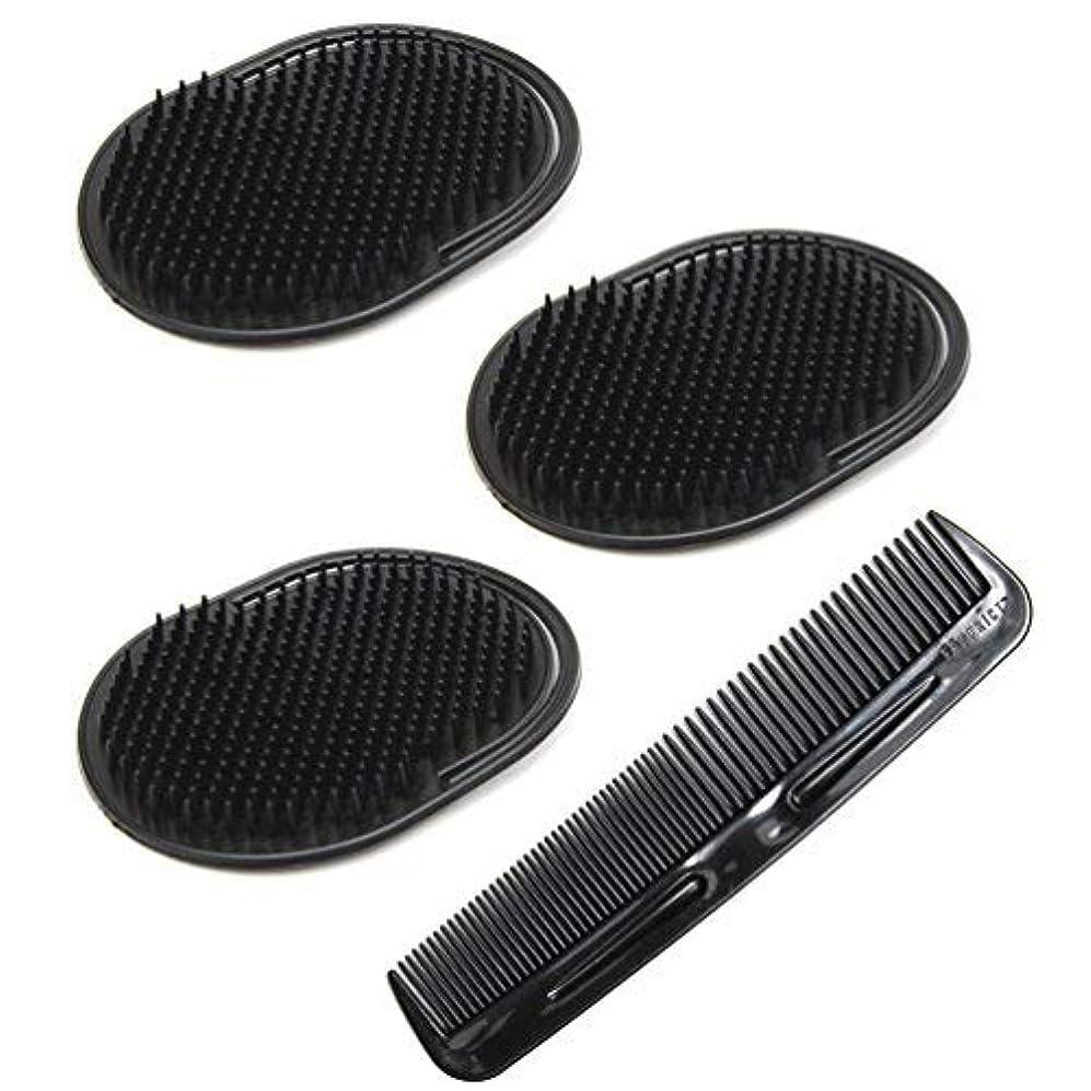 伴うコンドームカレンダーLuxxii (4 Pack) Hair Scalp Massage Shampoo Palm Brush Massager with 5