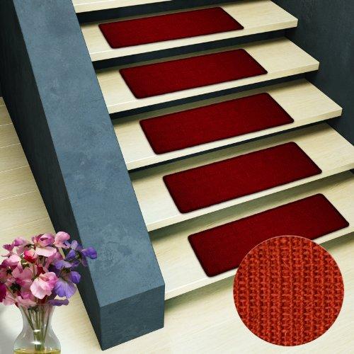 Sisal - Stufenmatte MA rot Stufenmatte ohne Überhang, natürliche schöne Sisalstruktur,rutschsicher durch beschichtetes Natur-Latex, wohnlichen Farben, variabel verwendbar, tierfreundlich.