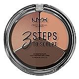 NYX Professional Makeup Paleta de Contouring & Iluminador 3 Steps to Sculpt Face Sculpting Palette tono 4 Deep color Beige