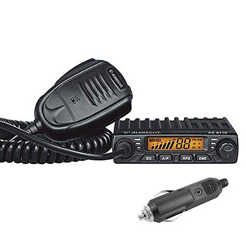 CB-Radio Albrecht AE 6110, 12V 4W, AM-FM, ASQ, SCAN, Zigarettenanzünder-Netzstecker im Lieferumfang enthalten