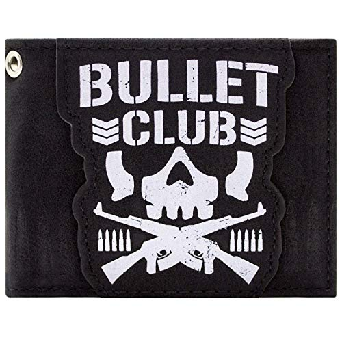 Bullet Club Logo del gruppo giapponese Wrestling Group Nero Portafoglio