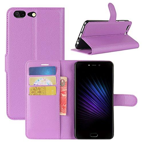 HualuBro Leagoo T5 Hülle, [All Aro& Schutz] Premium PU Leder Leather Wallet Handy Tasche Schutzhülle Hülle Flip Cover mit Karten Slot für Leagoo T5 Smartphone (Violett)
