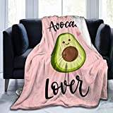 customgogo Avocado Throw Blanket.Cute Cartoon Food Fruit Blankets,Lightweight Ultra-Soft Micro Fleece for Couch Cover Home Decor .50 X 40 in