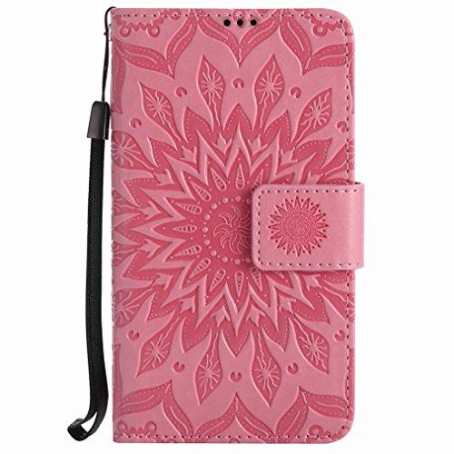 Yiizy Handyhülle für Nokia Lumia 630 Hülle, Sonnenschein Blütenblätter Entwurf PU Ledertasche Beutel Tasche Leder Haut Schale Skin Schutzhülle Cover Stehen Kartenhalter Stil Schutz (Pulver)