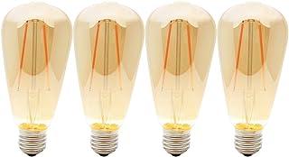 4X Lamparas Bombillas Edison de Filamento de LED E27 2W ST64 Vintage Retro Antigua Luz Calida 2200K Equivalente 20W Bombillas Incandescentes, AC230V