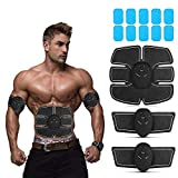 Abs Stimulating Belt- Abdominal Toner-Training Device for Muscles- Wireless Portable to-Go Gym...
