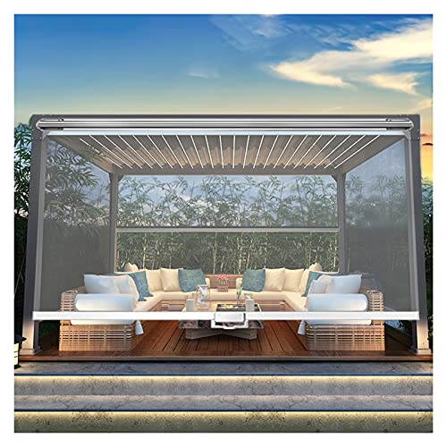 HWF Patio Pergola Clear Cordless Roller Shades, 60/80/100/120/140/150 cm Wide, Outdoor Large Waterproof PVC Curtain for Porch, Canopy or Gazebo (Color : W×H, Size : 100cm × 160cm(39.3' × 63'))