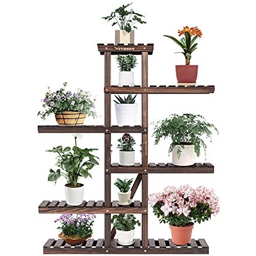 VIVOSUN Plant Stands for Indoor Plants Wood Outdoor Multi Layer Flower Pots...