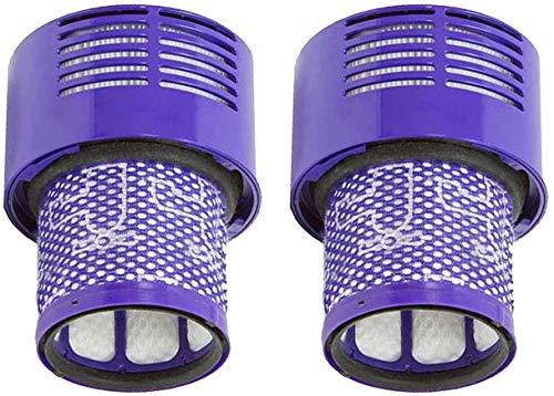 Filtros Lavables para Dyson Aspiradora V10 Cyclone, 2PCS V10 Absolute, V10 Animal, V10 Total Clean, SV12,Filtro de Repuesto Dyson