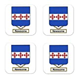 Newsome Family Crest Square Coasters Coat of Arms Coasters - Set of 4