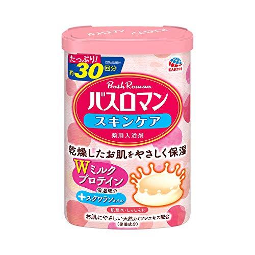 【医薬部外品】バスロマン 入浴剤 スキンケア Wミルクプロテイン [600g]