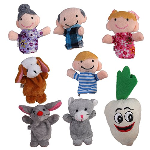 8pcs / Set Der Riese Karotte Fingerpuppen Kinderlied / Maerchen