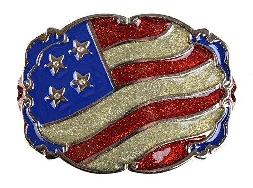 Gürtelschliessen für Männer Gürtelschliesse USA Fahne Geschenk zu Weihnachten Schnalle Schliesse Gürtel Wechselschnalle 11,7 x 8,5cm