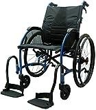 bescomedical, STRONGBACK, UltraLeichtgewicht-Faltrollstuhl, Transportrollstuhl, Trommelbremse mit Steckachsensystem, Sitzbreite 40 cm -