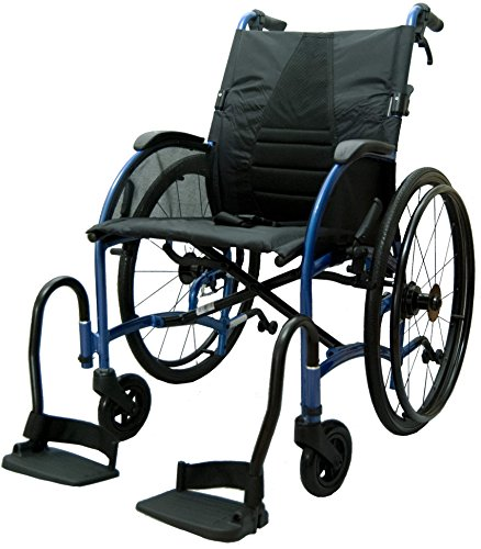 bescomedical, STRONGBACK, UltraLeichtgewicht-Faltrollstuhl, Transportrollstuhl, Trommelbremse mit Steckachsensystem, Sitzbreite 40 cm
