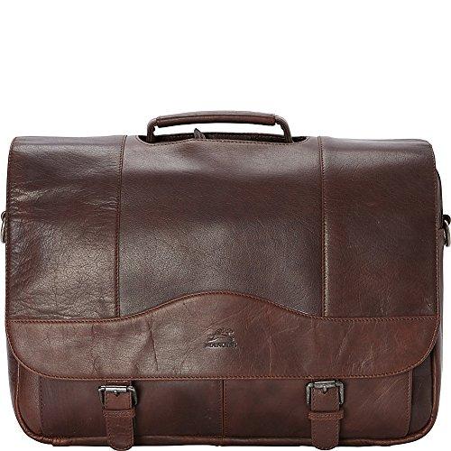 "Mancini Leather Goods Porthole 15.6"" Laptop Briefcase with RFID Secure Pocket"