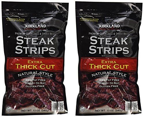Kirkland Signature Beef Steak Strips Jerky 12 Oz (2Pak)