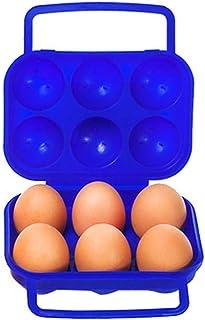 KUNGFU Al Aire Libre 6 Caja De Huevos Portátil Protección contra El Huevo Material Libre De Contaminación Bandeja para Huevos Material B