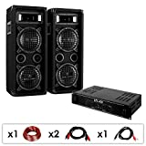 Pack Sono DJ PA 'DJ-24' Ampli Enceintes 1200W Rack