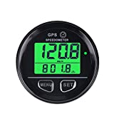 Runleader Digital GPS Speed Gauge,Real-time Driving Speed Record,Over-speed Reminder,Battery Voltage Measurement,DC External Power Operation for Motocycle ATV Racing Car Go-kart Scooter Paramotor