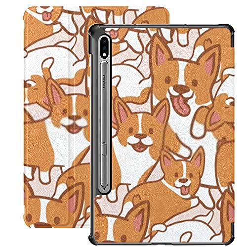 Funda para Galaxy Tab S7 Funda Delgada y Ligera con Soporte para Tableta Samsung Galaxy Tab S7 de 11 Pulgadas Sm-t870 Sm-t875 Sm-t878 2020 Release,Cartoon Corgis