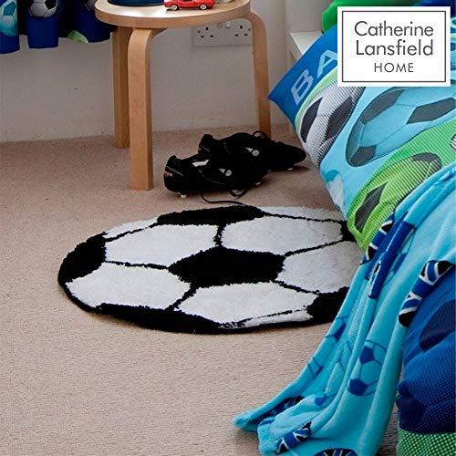 Catherine Lansfield Kids Teppich im Fußballdesign Mehrfarbig