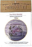 Jennifer Jangles Four Stitch Sampler Embroidery Kit-Terrarium