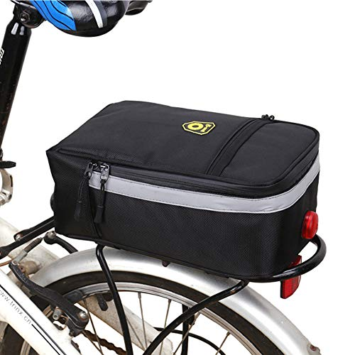 XGZ Fahrradtaschen Gepäckträger, Multifunktions Rahmentasche für Gepäckträger Elektrische Fahrrad Satteltasche Wasserdicht Fahrradzubehör Umhängetasche für Mountain Road MTB