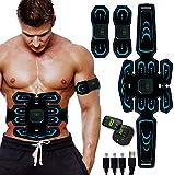 SHENGMI Electroestimulador Muscular Abdominales Cinturón,Masajeador Eléctrico Cinturón con USB,Entrenador Inalámbrico Portátil de 6 Modos de Simulación,10 Niveles Diferentes para Abdomen/Cintura.