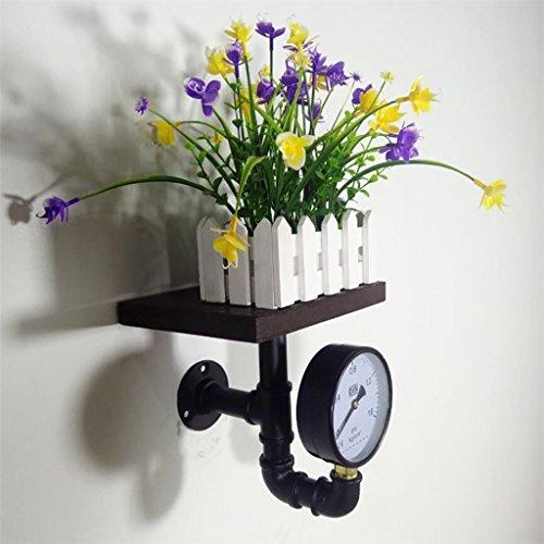 LOFT Retro Iron Boekenkast industriële stijl Planken Muur Hangende Rekken Plant Display Stand Bloemenstandaard-4.4