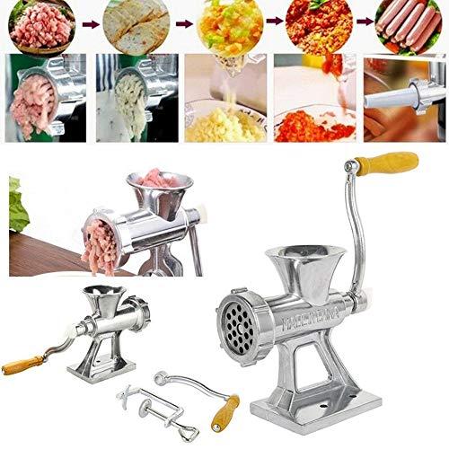 Houchu Manueller Fleischwolf handbetriebene Fleischwolf Wurstmaschine Küchenwerkzeug Haushaltszubehör Manuelle Lebensmittel Fleischmaschine
