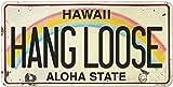 Pacifica Island Art 6in x 12in Vintage Hawaiian Embossed License Plate - Hang Loose