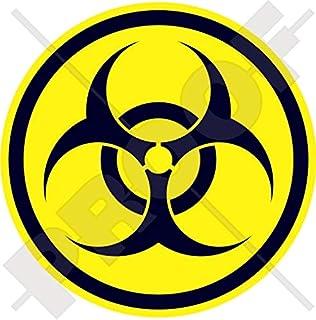 Naklejka ostrzegawcza o zagrożeniu biologicznym 100 mm (4 cale) COVID wirus biologiczny zagrożenie bezpieczeństwo okrągła ...