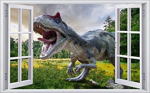 Dinosaurier Dino Wiese Bäume Wandtattoo Wandsticker Wandaufkleber F0566 Größe 70 cm x 110 cm