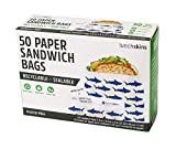 Lunchskins Recyclable + Sealable Paper Sandwich Bags, 50-count, Shark