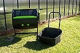 7. Riverstone Industries Dual Chamber Compost Tumbler Assortment, Black (ARSI-MCT-MC)