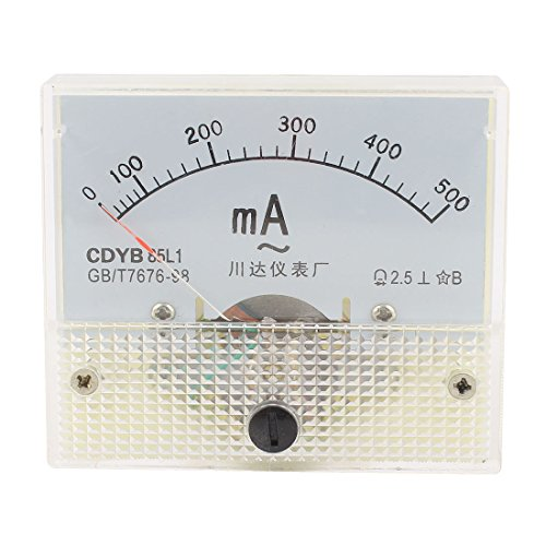 sourcingmap® AC 0-500mA Analog Amperemeter Panel Pointer Messgerät Rectangle Analog de