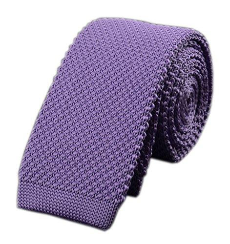 Men's Light Purple Style Knit Neck Ties Summer Lavender Soft Violet Suit Necktie