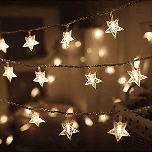 Fairy String Lights, 3*AAA Battery Powered, Warm White Led Star Firefly Lights for Bedroom, Wedding, Christmas, Party, Outdoor/Indoor, Garden Decoration (3 M, 20 Lights)