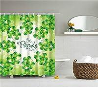 HREGFLT シャワーカーテン 美しいカラフルな花の花柄のシャワーカーテンフック付きの壊れやすい防水ポリエステルバスカーテン