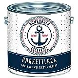 Parkettlack GLÄNZEND farblos Parkettsiegel Treppenlack Holzlack klar // Hamburger Lack-Profi (1 L)