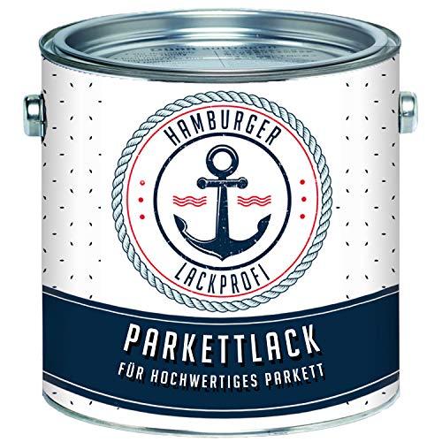 Parkettlack SEIDENMATT farblos Parkettsiegel Treppenlack Holzlack klar // Hamburger Lack-Profi (1 L)