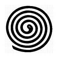 蚊取り線香 シルエット ステッカー (メタリック銀:シルバー, 大:縦横 16cm×16cm = 1枚)