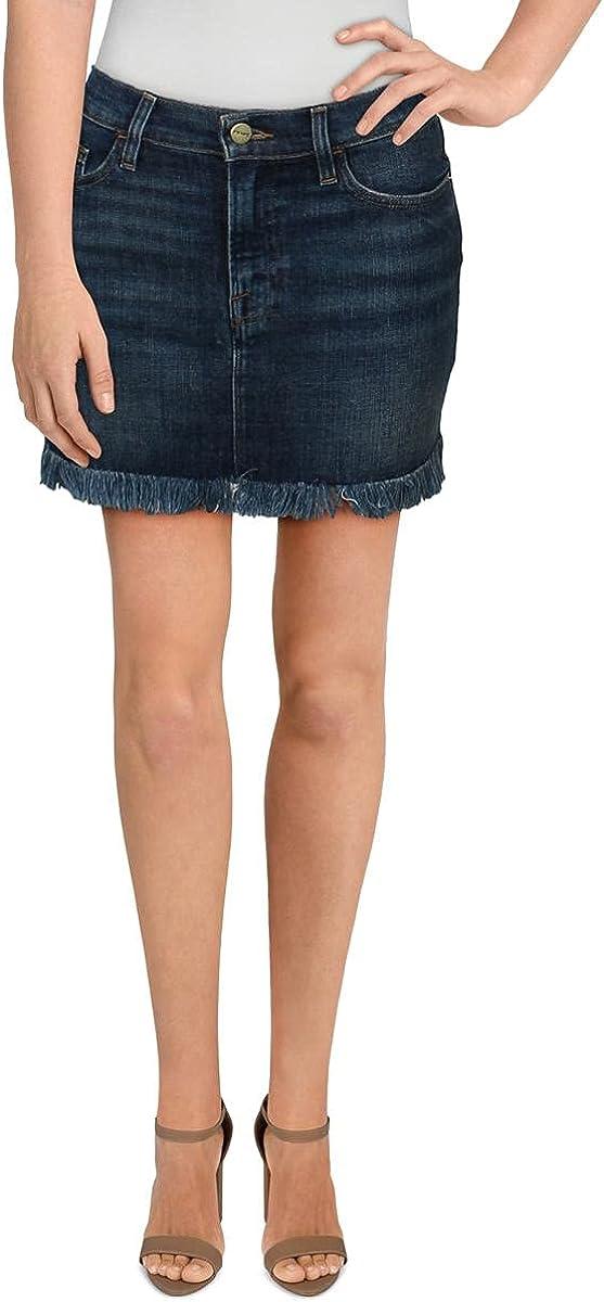Frame Denim Womens Jeans Raw Hem Denim Skirt