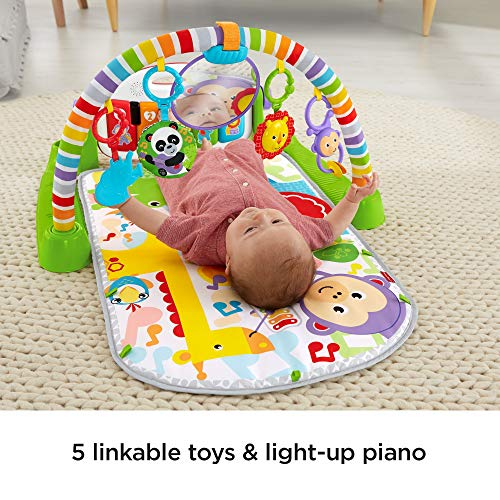 Fisher-Price Deluxe Kick 'n Play Piano Gym, Green Michigan