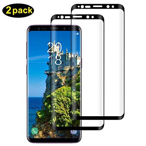 DOSMUNG [2 Pack Vetro Temperato per Samsung Galaxy S9 Plus, Pellicola Protettiva per Samsung S9 Plus [9H Durezza] [Curva 3D] [HD Alta Trasparenza] [Copertura Completa] Galaxy S9 Plus Tempered Film