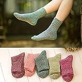 Artículos de decoración para el hogar, calcetines 5 pares de mujeres de lana cachemira...