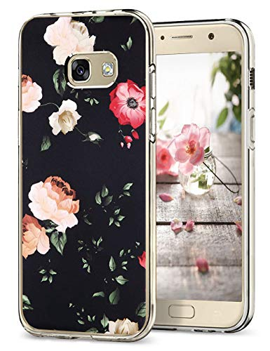 Hülle Kompatibel Samsung Galaxy A5 2017 Hüllen, Galaxy A3 2017 Schutzhülle Durchsichtig Silikon Handyhülle Clear TPU Schutz Handytasche Blumen Muster Case Cover für A5 2017 (8, Galaxy A5 2017)