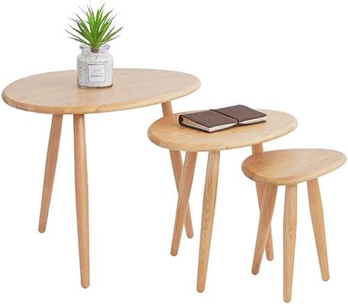BZ-ZK SZQ Tabelle, Couchtisch, Beistelltisch, Sofa Beistelltisch Nachttisch Schreibtisch Beistelltisch Esstisch Holz Material Beistelltisch 24-65CM Exquisites Handwerk (Farbe   A, Größe    3)